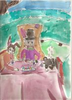Mad Hatter Tea party by PoisonedSeaSerpent
