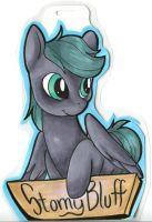 Stormy Bluff Con Badge Commission (TrotCon 2012) by wildtiel