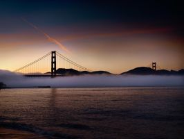 foggy golden gate by VaggelisFragiadakis