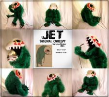 Jet - monster puppet by TakShadoWing