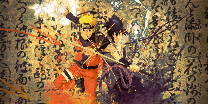 Naruto vs Sasuke by dantewtf
