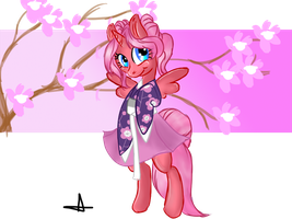 AT : Cherry Bloom Kimono by Geeflakes-art