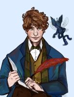 Newt Scamander by Brownie-Un-ni