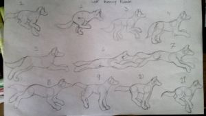 Wolf running pattern by BeccA-PUP