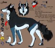 New fursona by Huskieee