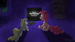 Pinkie and Derpy Play N64 by InfinityDash