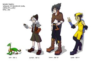 Drawing Class Character Lineup Final by Oddstuffs