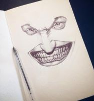 joker bic pen by foxesjr