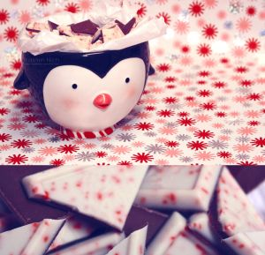 Mr. Penguin's Peppermint Bark by ~YasminNich