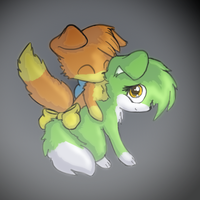 Puppy Couple With Each Other by RadiateZoom