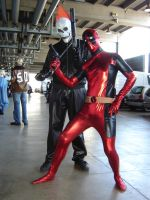 Deadpool and Ghost Rider by Dadethethird