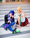 Panty and Stocking school unif by Sandman-AC