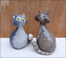 Grey Cats by Hippopottermiss
