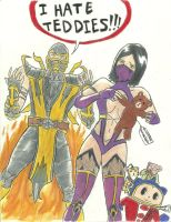 MK9 Scorpion, Mileena, Teddie? by mgs3re4dmc3