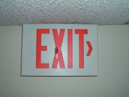 sign 02 - exit by n-gon-stock