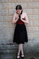 Black and Red Swing Dress by forteallegretto