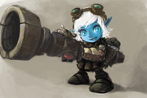 League of Legends---Tristana by TEnmoom