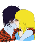 Marshall Lee and Fionna by Pooku-chan