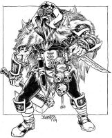 Duros the Reaver black n white by ElfSong-Mat