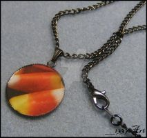 Candy Corn Necklace by 1337-Art