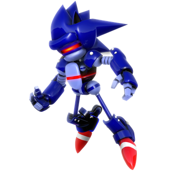 Mecha Sonic Render by Nibroc-Rock