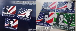 Avengers Presidential Stickers by ChaosNDisaster