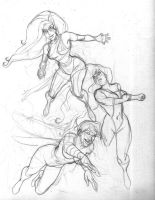 Avengers Women sketch by Fredgri