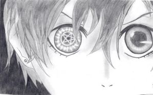 Ciel Phantomhive pentagram eye by laartje205