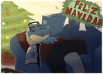 Sleepy Christmas 2015 by GlassesGator