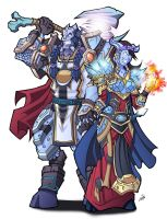 Commission - Eizer and Gothira by Lukali