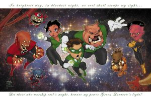 Lanterns ComicCon Print by a-archer