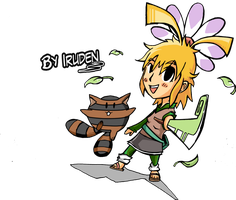 Chibi Amapola and Mopochi - Color by iruden