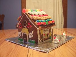 Gingerbread house: Back by taylor-of-the-phunk