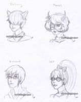 Drawings I did of my adopts I adopted 2 by Kanedas-Adopts