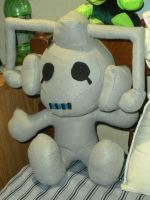 cyberman plushie completed by HeatherMason76