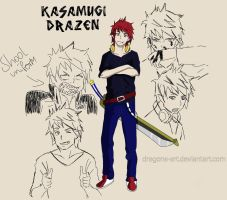 Ao no Exorcist OC - Kasamugi Drazen by Dragons-Art