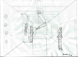 1 point perspective - Laboratory by b-lea