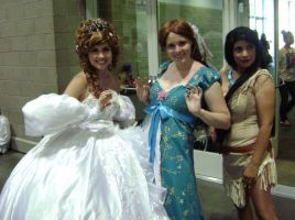 AX09-Gizelle x2 and Pocahontas by moonymonster