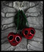 Scary Cherries Necklace by NeverlandJewelry