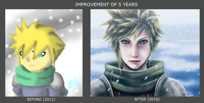 Improvement of 5 years - Cloud by StarTheYoshi