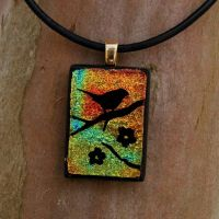 Sunset Branch Fused Glass by FusedElegance
