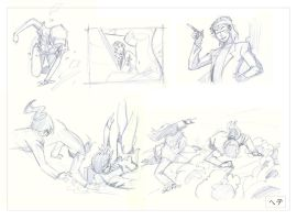 Cutey Honey - Pose Studies by MichaelCrichlow