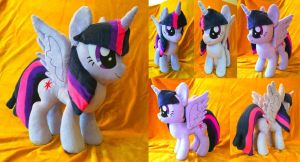 FOR SALE: Princess Twilight Sparkle Plush by PantherPawCreations
