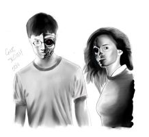 Harry Potter meets Terminator by gonesketchy