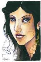 Inara - Watercolor and Ink by indigowarrior