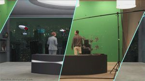 Virtual Setdesign for vfx production by hoschie