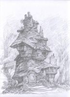 Witch Cottage 2 by bridge-troll