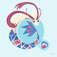 Milotic and the Prism Scale by Maglii