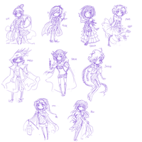 AS: these are supposed to be chibis by midnight-owl