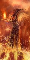 flame druid by breathing2004